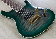 Ibanez S5527QFX DGD Prestige 7-String Electric Guitar Dark Green Doom Burst