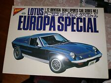 Vintage Nichimo 1:12 Scale Lotus Europa Special, Model Kit, Japan, Started