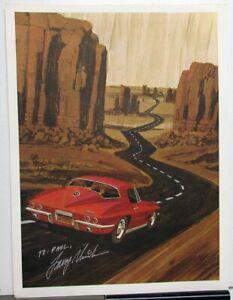 1967 Corvette News Cover Art By George Bertel Print Poster Larry Shinoda Signed