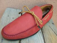 PETER MILLAR Mens Casual Dress Shoes Dark Orange Leather Moccasin Loafers 9.5M