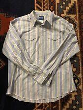 Vtg Wrangler Xl Western Shirt Pearl Snaps