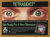 The Next Tetris PS1 Playstation 1 1999 Vintage Print Ad/Poster Official Game Art