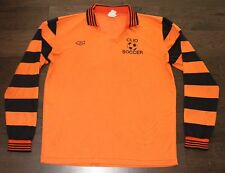 CANNON SOCCER JERSEY vtg 80s ORANGE BLACK STRIPED Long Sleeve XL X-LARGE #10 usa