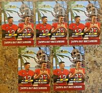 (5) 2020 Tom Brady & Rob Gronkowski Limited Edition Tampa Bay Buccaneers Card.
