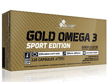 Olimp Gold Omega 3 Sport Edition 120caps. fatty acids Fish Oil - free P&P