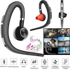 Wireless Bluetooth Headset Noise Canceling Earpiece For Motorola iPhone Samsung