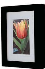 Deluxe Ambiance Gallery Black Wood Picture Frame for Stretched Canvas 9 x 12 In.