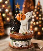 Bethany Lowe Halloween HAPPY HAUNTING GHOST on Box Container AUTHORIZED DEALER