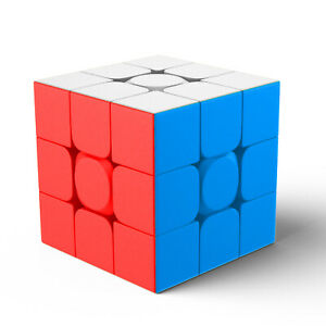 2 Pack MoYu 3x3x3 Magic Speed Cube Stickerless Professional Puzzle Cube Kid Toys