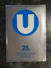Programm U-Bahn Eröffnung Wien 25. Februar 1978 Gebrauchsspuren