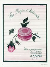 """""""POUDRE L.T. PIVER"""" Annonce originale entoilée PLAISIR DE FRANCE 1951 ANDREÏ"""