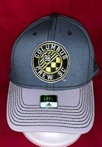 Columbus Crew SC Gray Structured Hat Adult S/M MLS NEW!!