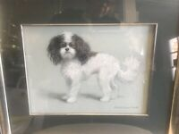 20/21st Dog Pastel Painting Portrait Christine Herman Merrill-Wm Secord Gallery