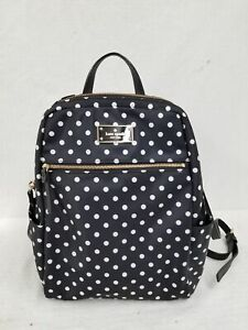 Kate Spade Black Polka Dot Backpack Purse