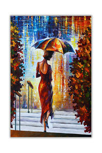 AT54378D At The Steps By Leonid Afremov Oil Painting Re-Print Wall Poster Prints