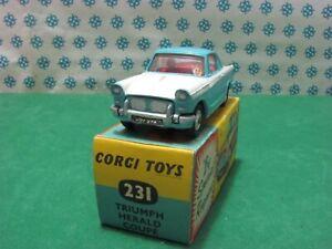 Vintage - Triumph Herald Coupe - Corgi Toys 231 - MIB
