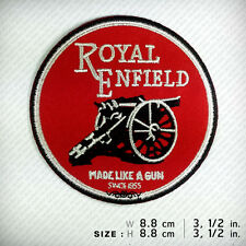 Royal Enfield Patch Iron On. Shirt Clothes. Made like a gun. Motorcycles Classic