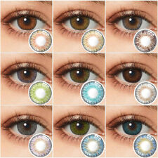 Multicolored Contacts Yearly Eye Contacts 3 Tone Lenses Party Emo Eyewear Tool