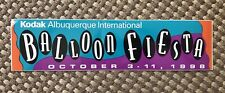 1998 Unused Bumper Sticker Albuquerque International Balloon Fiesta