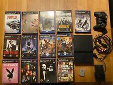 PlayStation 2 - Slim Charcoal Black Spielekonsole 13 Spiele und eine Memory Card