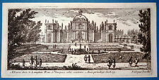 Gravure Etching Incisione Kupferstich Gabriel PERELLE vue Chateau XVIIe