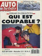 AUTO HEBDO n°773 du 10 Avril 1991 MERCEDES 190 E 2.5 EVO2 AUDI ABT B300