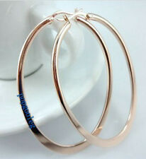 women earring hoop 18K rose Gold GP big hoop lady girl women free shipping