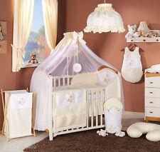 Baby Bettwäsche Bettset mit Stickerei B 8tlg für Kinderbett 70x140 Moskitonetz