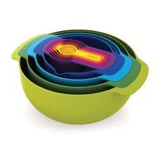 Joseph Joseph Nest 9 Piece Set Compact Mixing Bowls Sieve Colander Measuring Cup