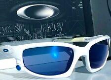 NEW* Oakley SPLIT JACKET White Blue ROAD BIKE POLARIZED Galaxy Sunglass 9909-03