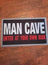 Man Cave Enter At Your Own Risk Rug
