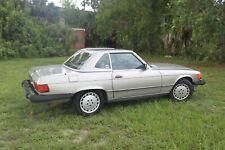 1988 MERCEDES BENZ W107 560SL HARDTOP CABRIO PLATIN / BRAUN  sehr schoen