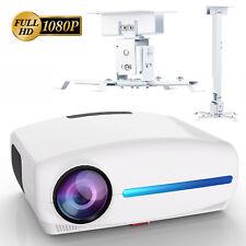 LED Full HD Beamer 1920x1080P LCD Heimkino Projektor inkl. Halterung OVP & NEU
