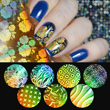 16Pcs Gold Starry Nail Foils Paper Flower Star Manicure Nail Art Sticker 4*20cm
