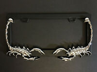 United Pacific 3D Chrome Scorpion License Plate Frame - Universal, Model 50034