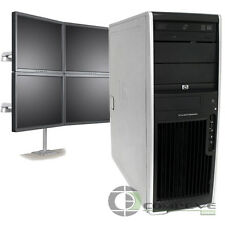 Trading 4 Monitor Workstation PC HP XW4600 Intel E6850 3.0 GHz 4GB RAM 250GB HDD