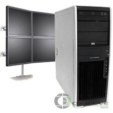 Trading 4 Monitor Workstation PC HP XW4600 Intel E6850 3.0 GHz 4GB RAM 250GB HDD