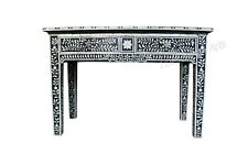 Handmade Bone Inlay Floral Design Chest of 2 Drawers Console Table