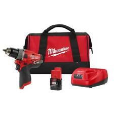 "Milwaukee M12 Fuel 12-Volt Lithium-Ion Brushless Cordless 1/2"" Hammer Drill Kit"