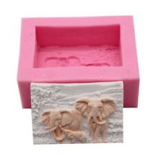 Elephant Family Making Moulds Silicone Soap Candle Mold Craft Handmade DIY Molds