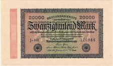 Alemania Berlín 20000 Mark 1923 P-85b J-MB AU-NO CIRCULADO inflationsgeld billetes