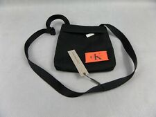 Calvin Klein Unisex Black Cross Body Bag With Bright Red Logo New With Tags