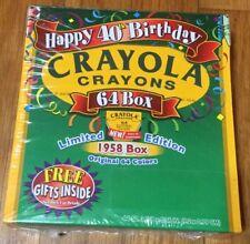 Crayola Crayons Happy 40th Birthday Limited Edition 1958 Box - Issued 1998 - Nib