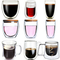 500ML Double Wall Glass Mug Cup Tea Coffee Heat-resistant Clear Glass Mug Cup