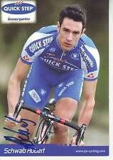 CYCLISME carte cycliste SCHWAB HUBERT équipe QUICK STEP 2006 signée
