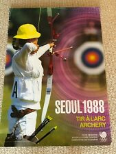 Seoul 1988 Official Olympic Poster - Archery