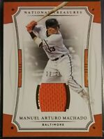2017 National Treasures Gold MANNY MACHADO Jersey Patch /25