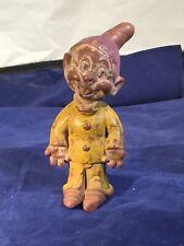Vintage 1938 Seiberling Disney Snow White & 7 Dwarfs Dopey Hard Latex Rubber Toy