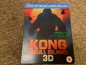 Kong Skull Island 3D (HMV Exclusive) Steelbook (Region B) 3D + 2D Blu-ray