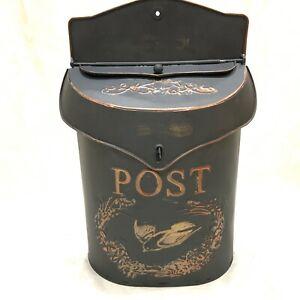Rustic Vintage Retro Metal Wall Mount Mailbox Post Letter Box House Garden Decor